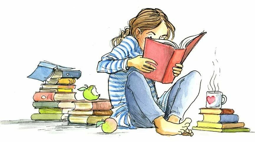 Веселые картинки о книгах, мужу спокойной ночи