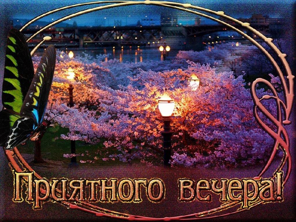 Открытки приятного вечера и доброй ночи картинки