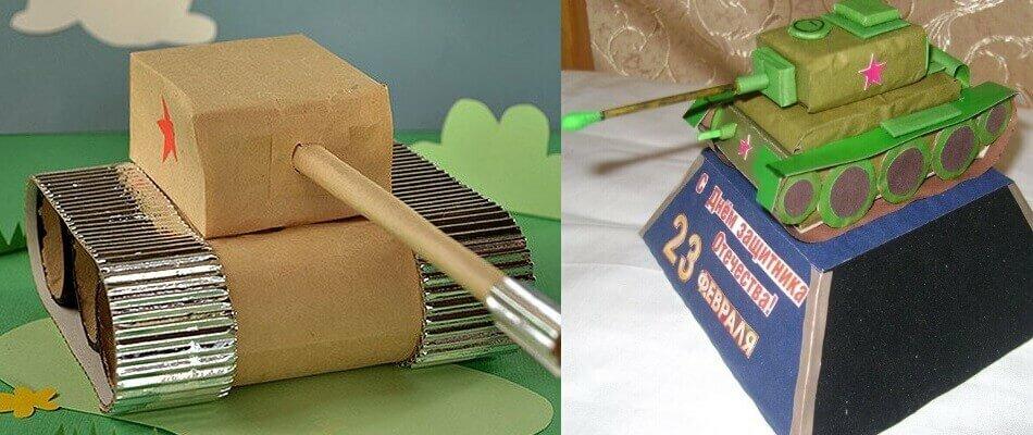 Как сделать танк из картона и бумаги