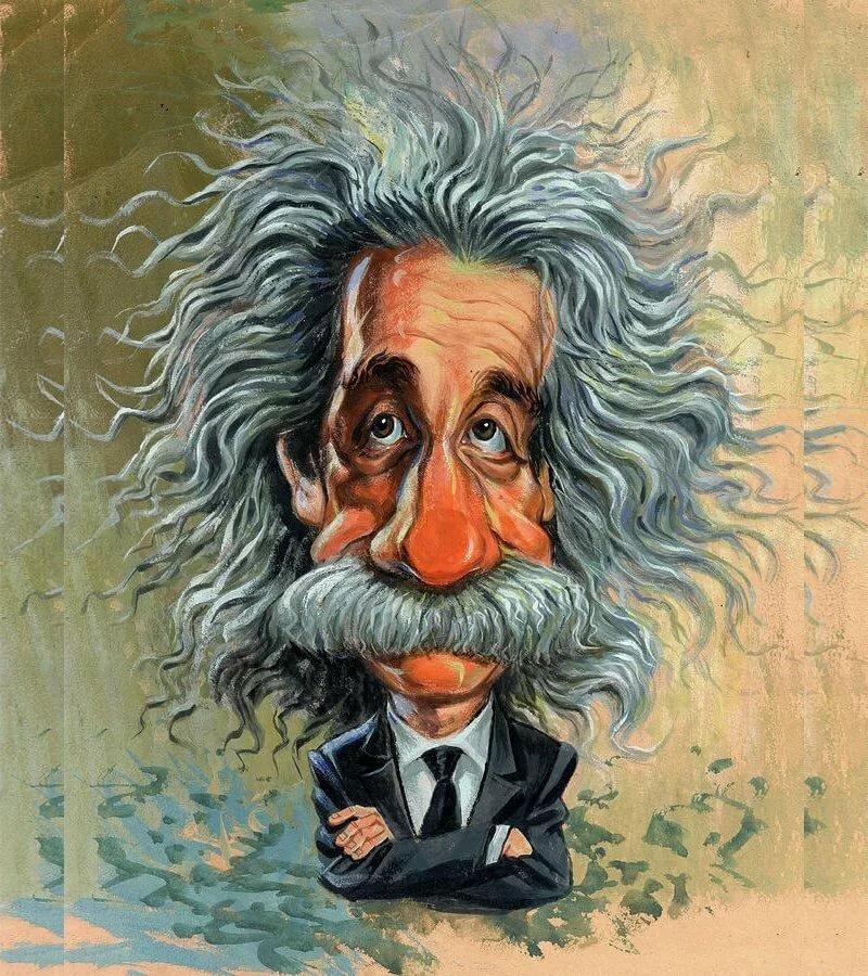 смешные картинки с энштейнами зеркальная
