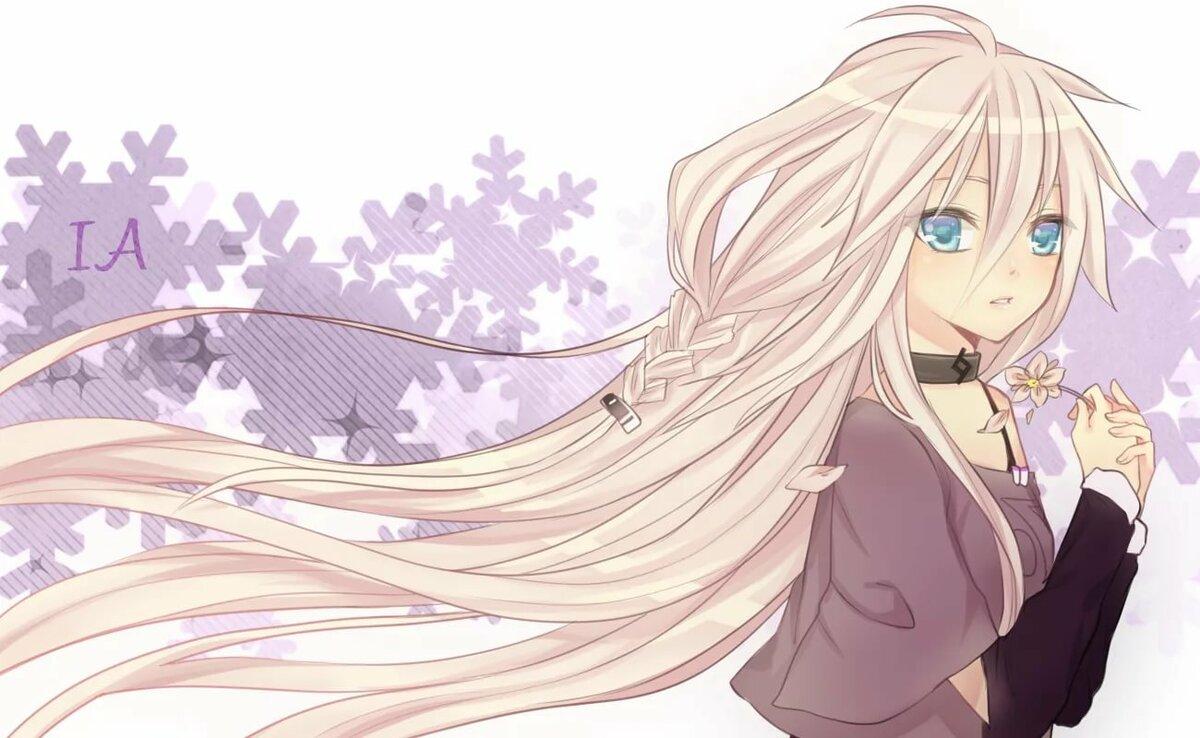 Картинки аниме девушки с волосами длинными