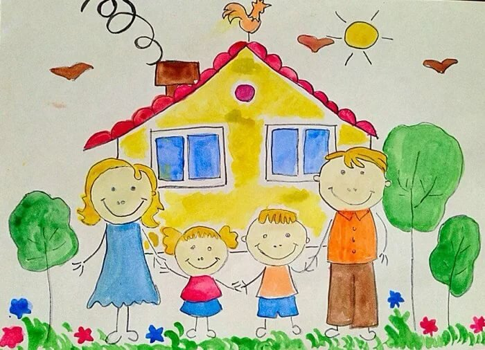 Картинки на тему семья дом