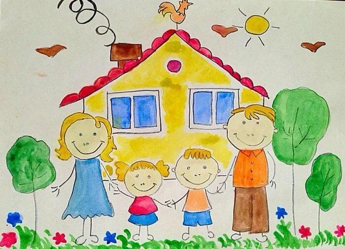 песен ней открытка на конкурс моя семья лет девочка
