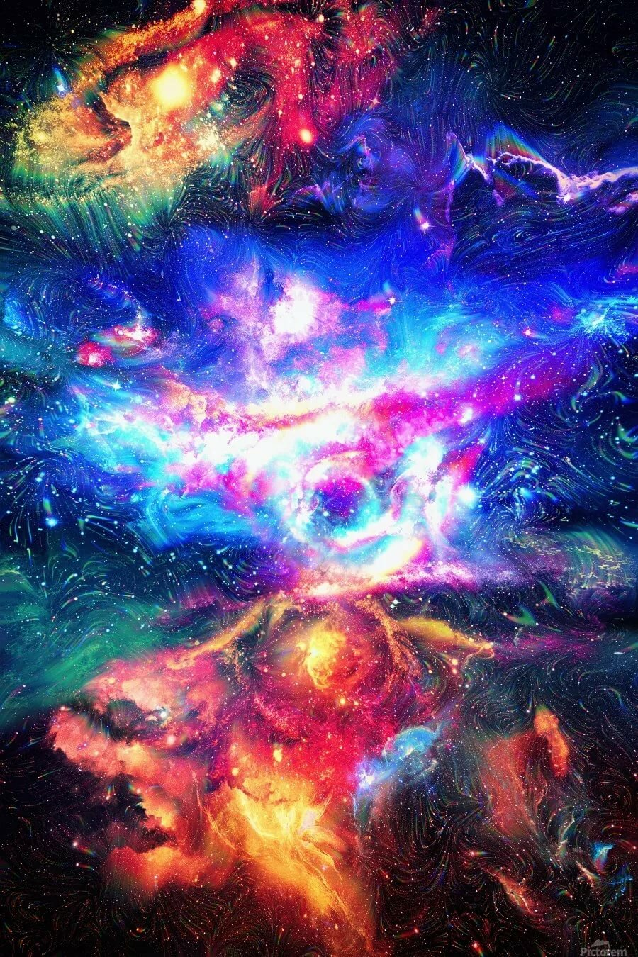 colorful galaxy extra large - HD900×1350