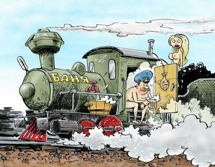 Открытка с поездом на 23 февраля, картинки новый год