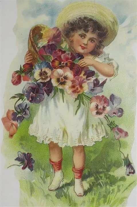 Старые открытки с днем рождения с детьми кутюрье