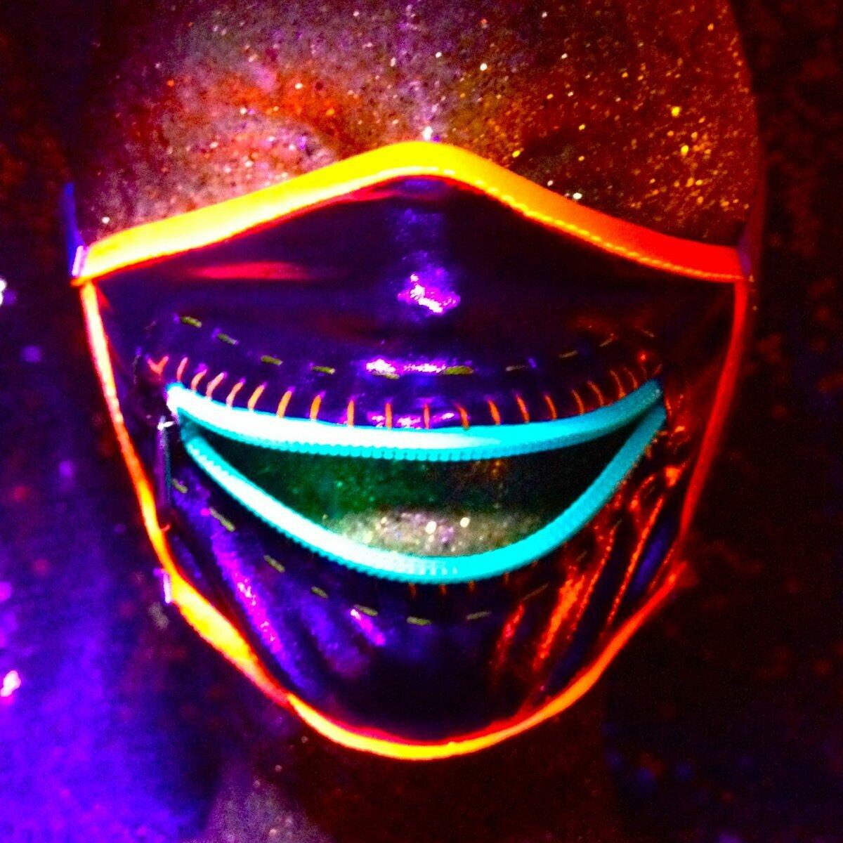 Надписью, картинки люди в масках с неоновыми глазами
