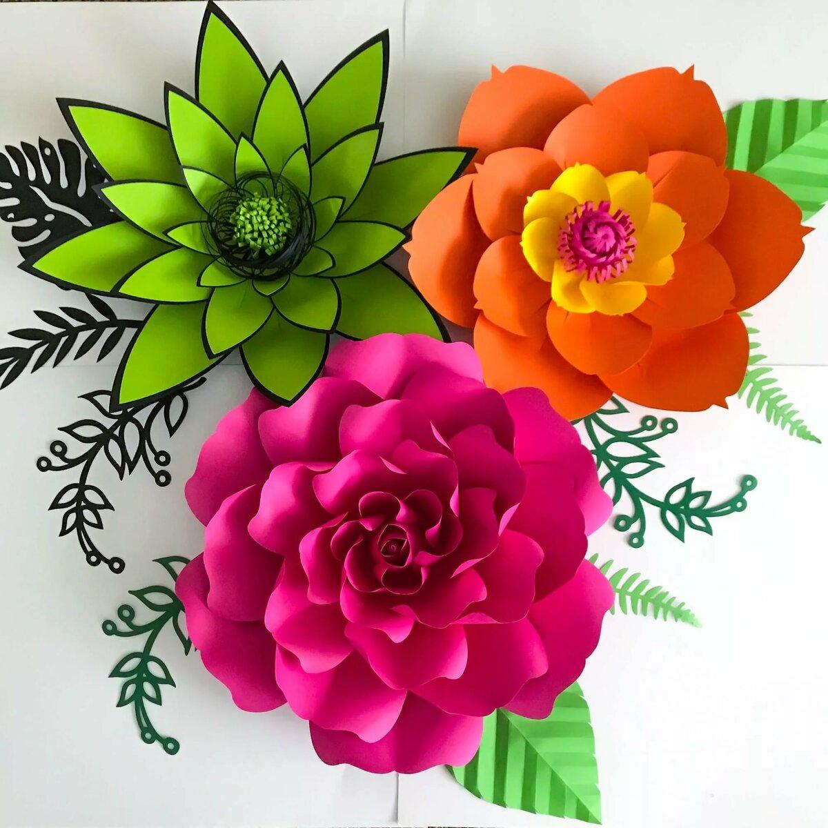 Цветы из бумаги для декора открыток