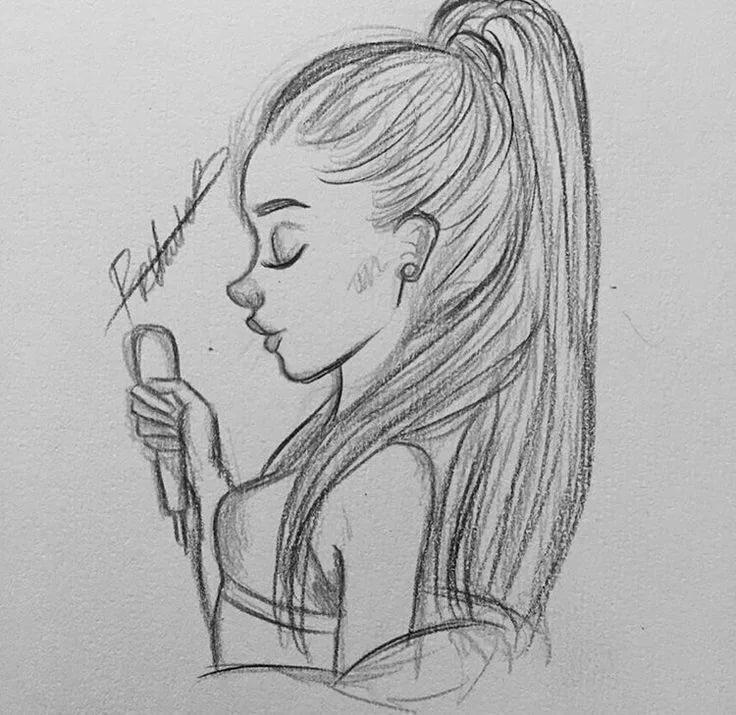Картинки карандашом девушки легко