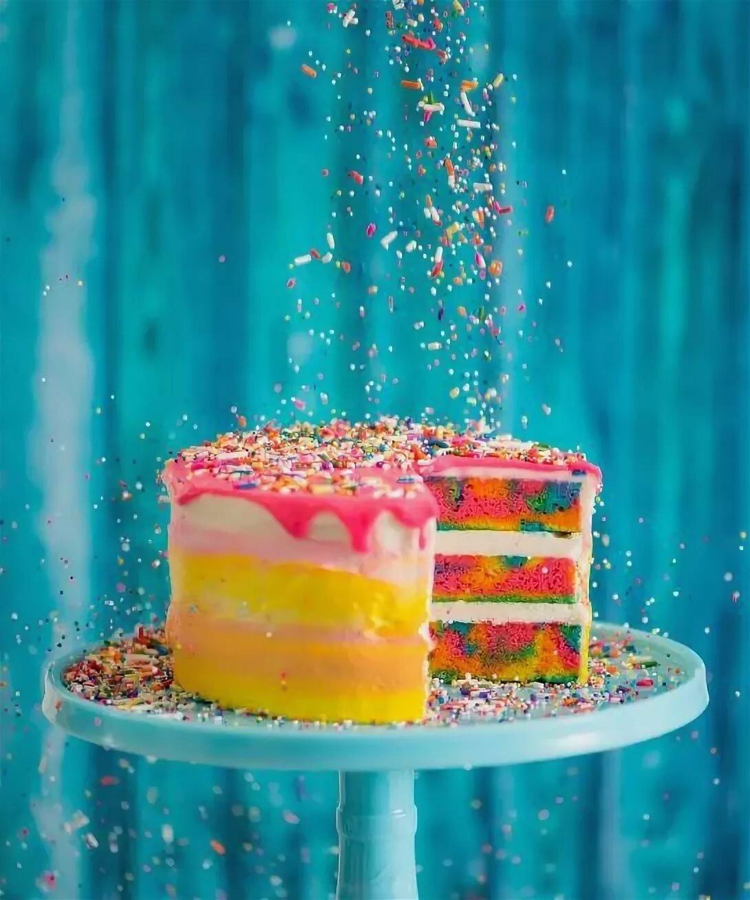 Картинки радужного торта