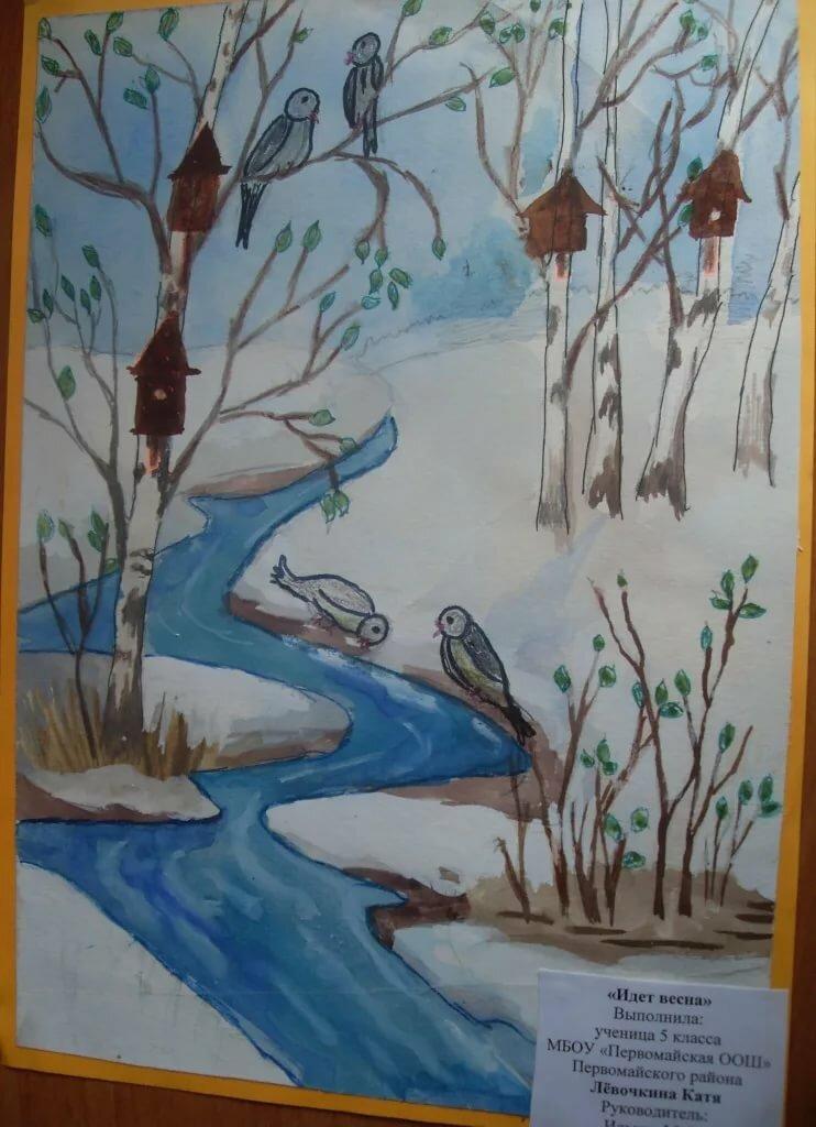 Рисунок 3 класс весна пришла