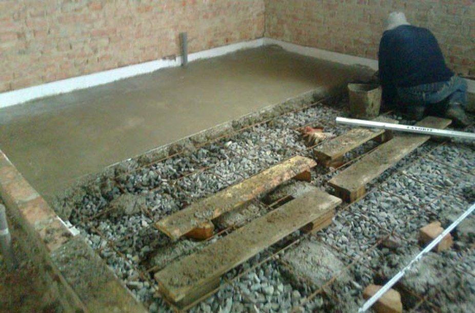 стяжка на земляной пол в частном доме