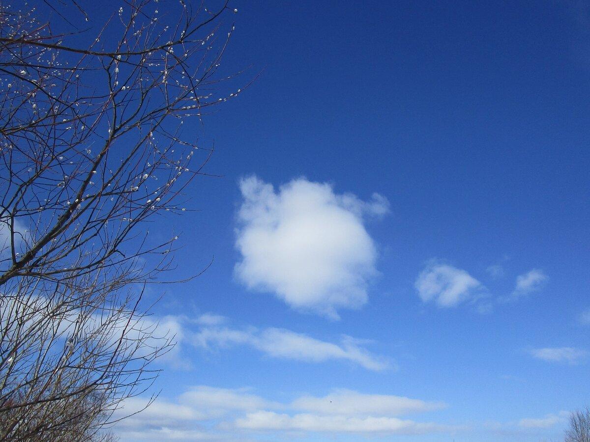 картинки красивое весеннее небо треугольной
