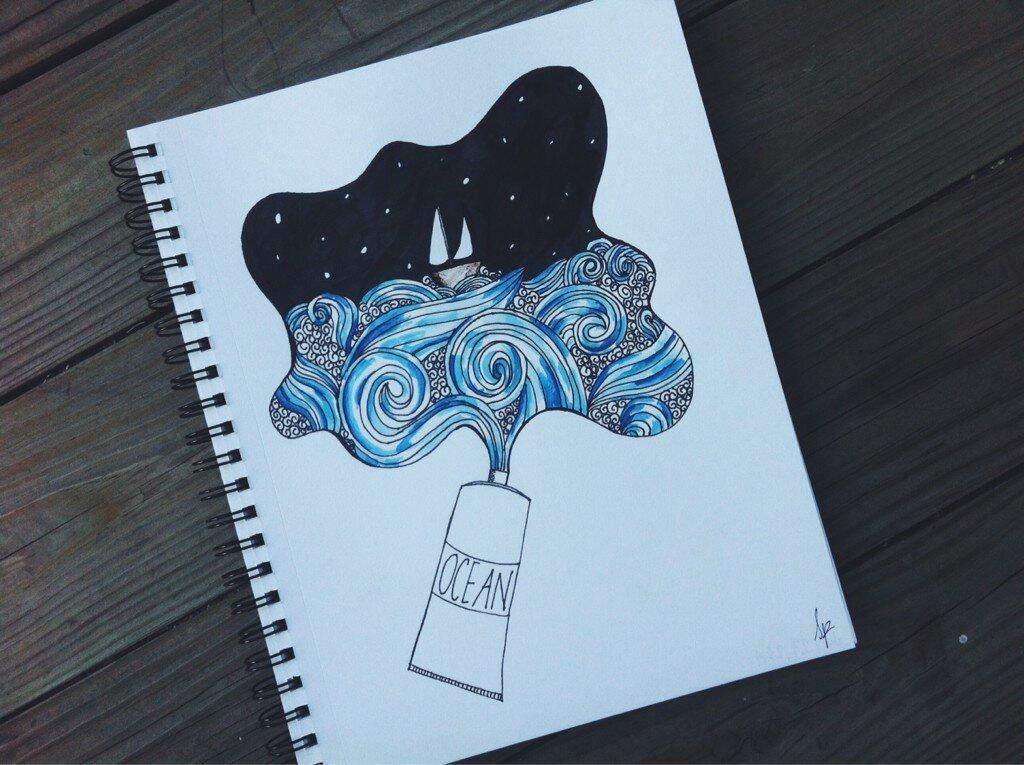 Днем, прикольные рисунки для срисовки для начинающих в скетчбук