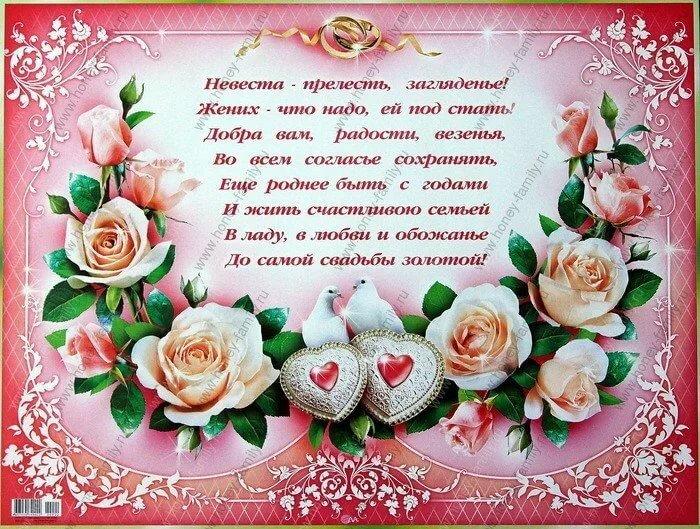 Свадебные поздравления своими словами от крестного