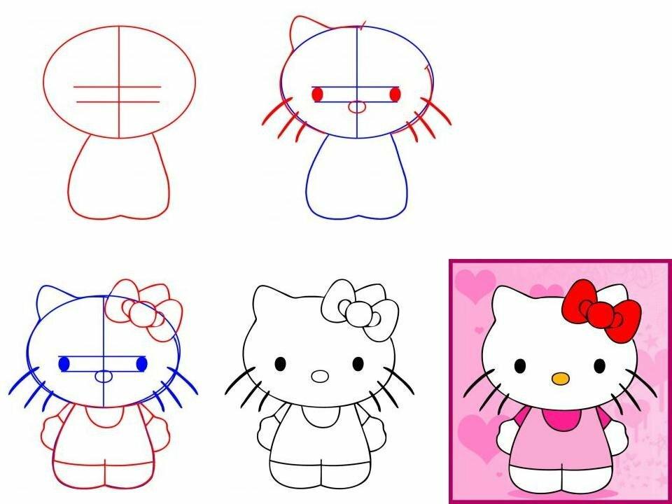 Рисунки по частям карандашом для начинающих