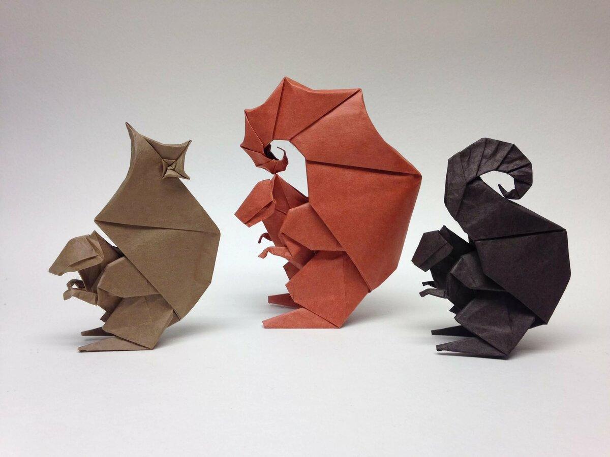 Фигурки оригами картинки, стихи лете
