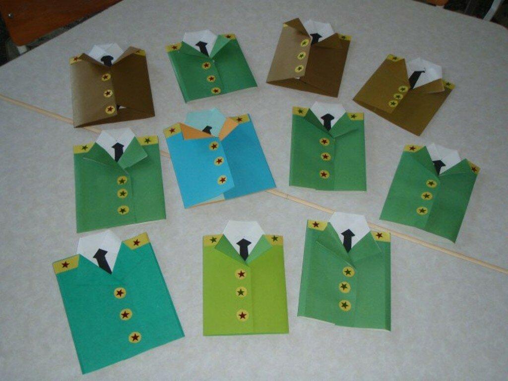 Открытка к 23 февраля своими руками в детском саду с шаблонами, открытки