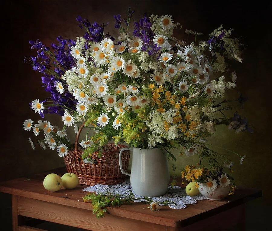 фотонатюрморты цветы полевые печать