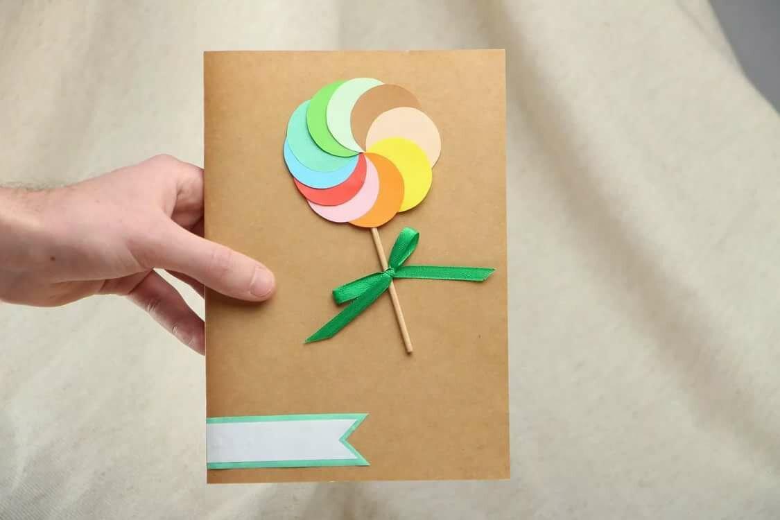 Днем победы, как сделать легко открытку на день матери