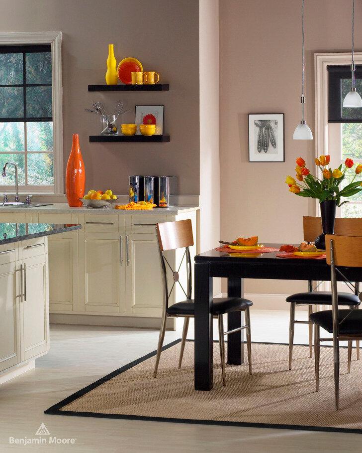 Кухня покрашены стены картинки