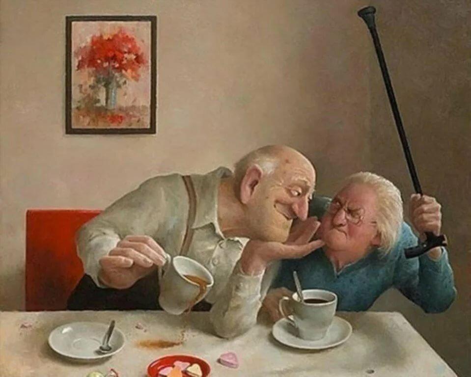 Ленточек, смешные картинки про стариков