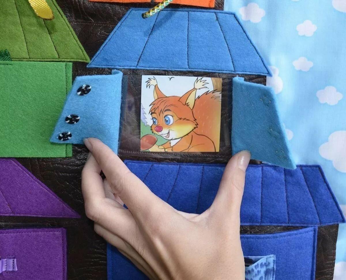 Открытка домик своими руками из ткани для детей и игрушки внутри