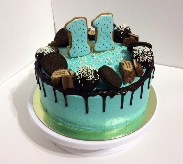 Открытка, картинки с днем рождения на торте мальчику 10 лет