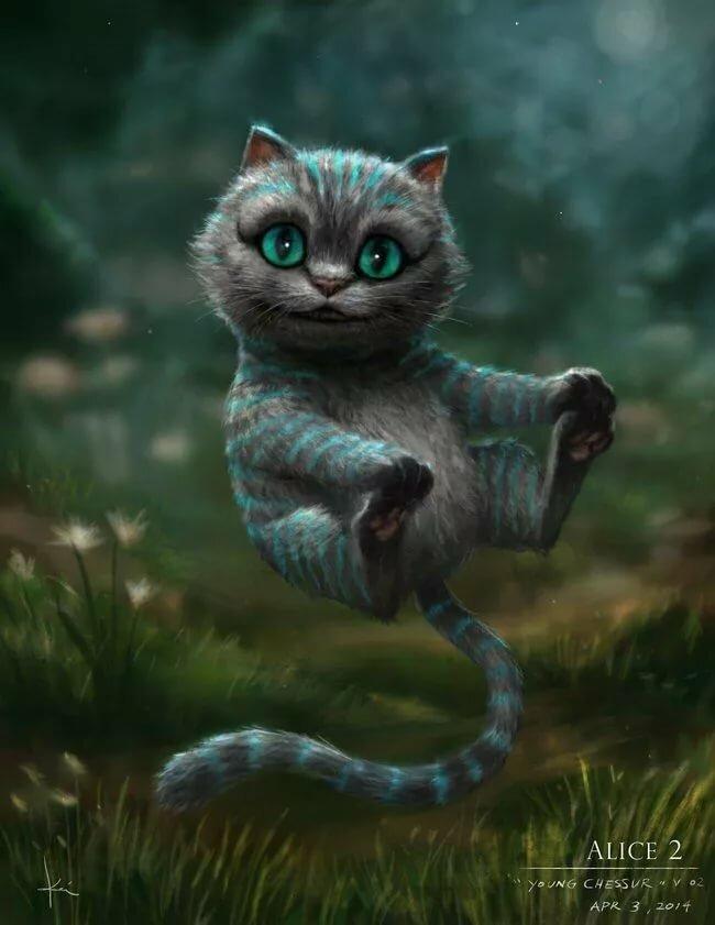 Картинки с чеширским котом из фильма алиса, открытки детские