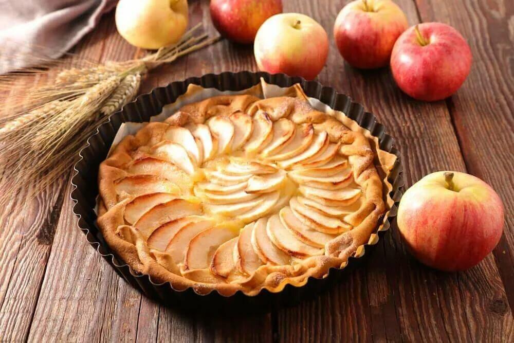 пироги с яблоками с картинками небольшой городок индивидуальной