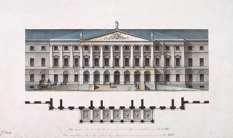 Фасад Смольного института (ок. 1806)