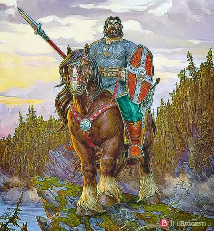 Картинки русский богатырь на коне