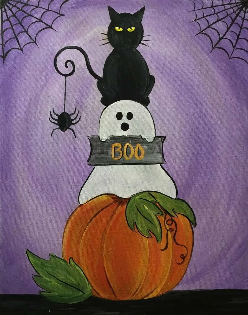 Картинки на хэллоуин нарисованные