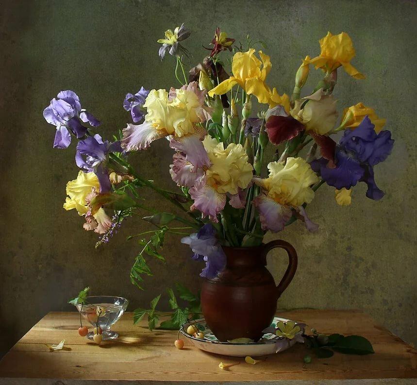 фотографии цветов натюрморты под старину