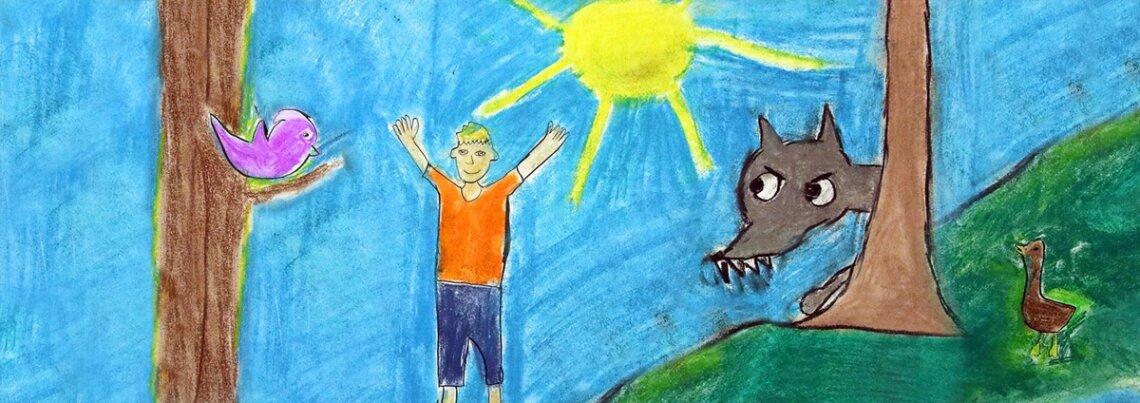 фриске рисунок к сказке петя и волк картинки для девочек