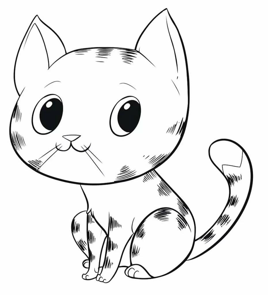 Картинки котят раскрасить