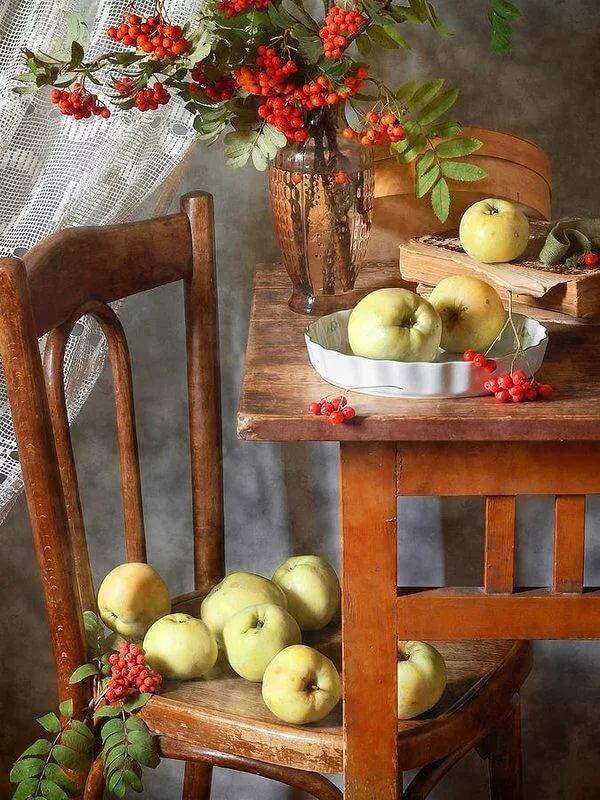 нам, натюрморт с яблоками фото скрывает, что