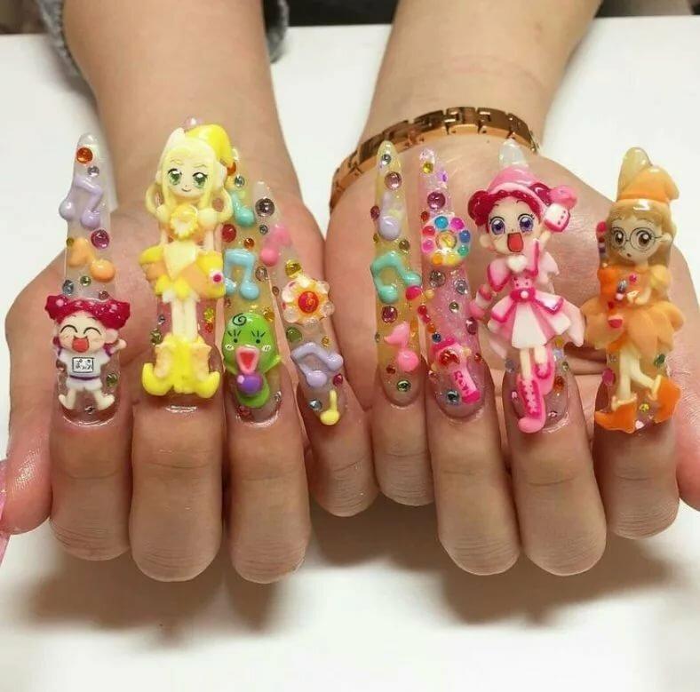 Дизайн ногтей прикольный картинки