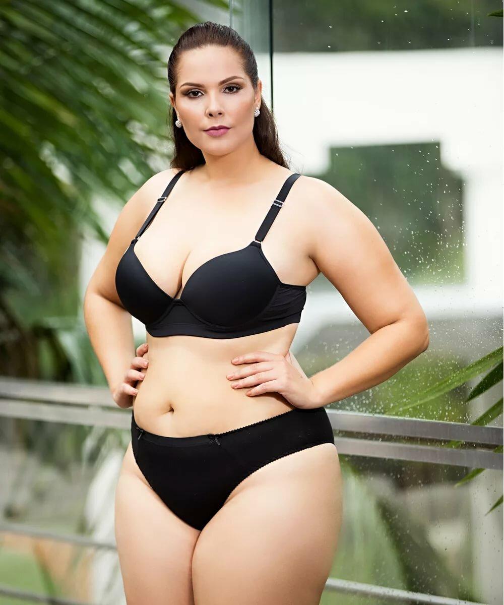 Plus size curvy girls bikini — pic 5