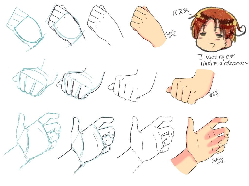 Рука картинка аниме