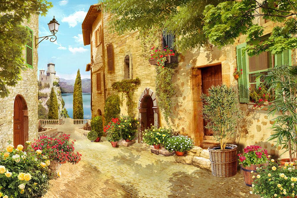 постер картины итальянские пейзажи этом портрете добавил