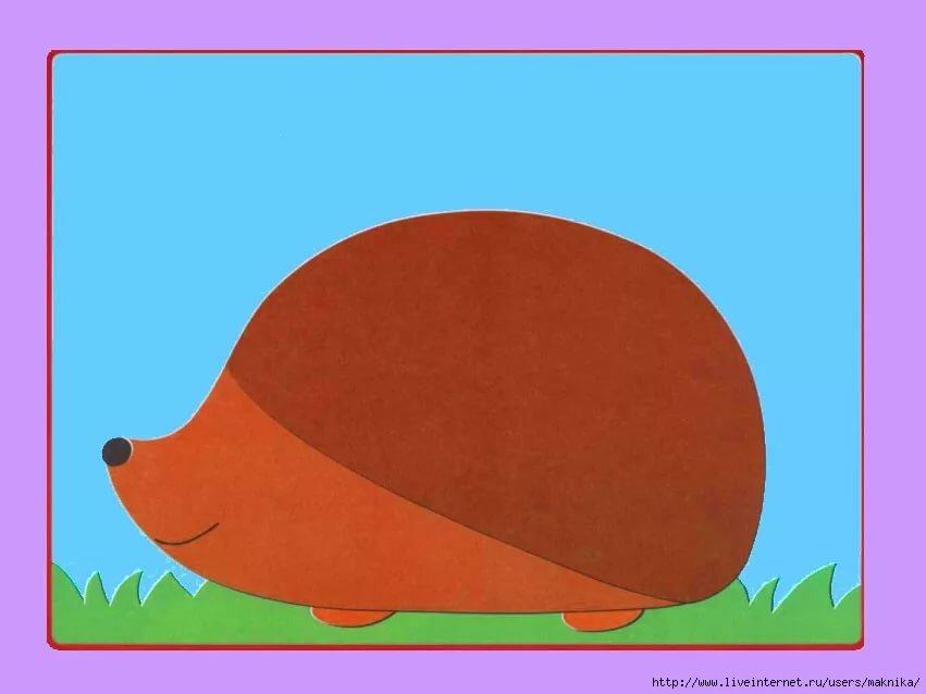 Картинка ежика без иголок для детей