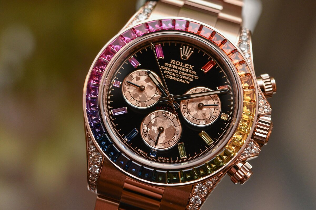 Часы Rolex White Gold Daytona Rainbow в Элисте