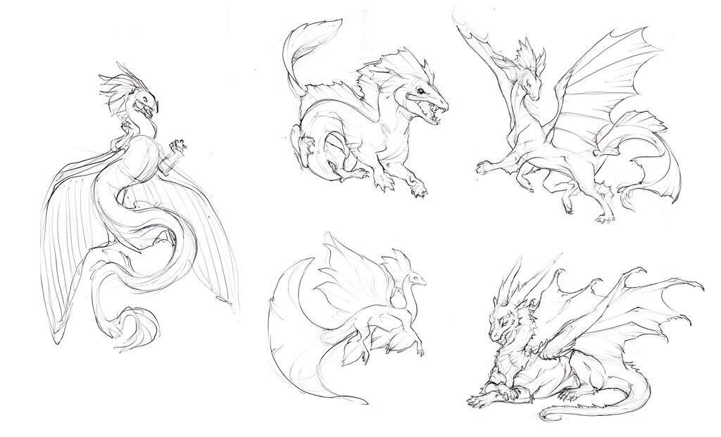 Картинки дракона в схемах