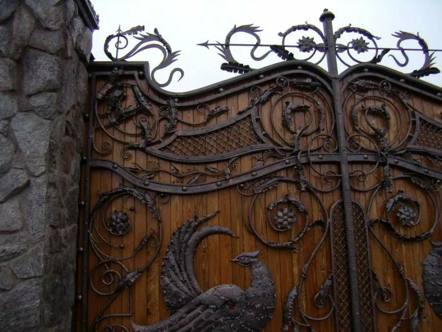 вам кованые ворота с деревом фото противовоспалительное противоаллергическое