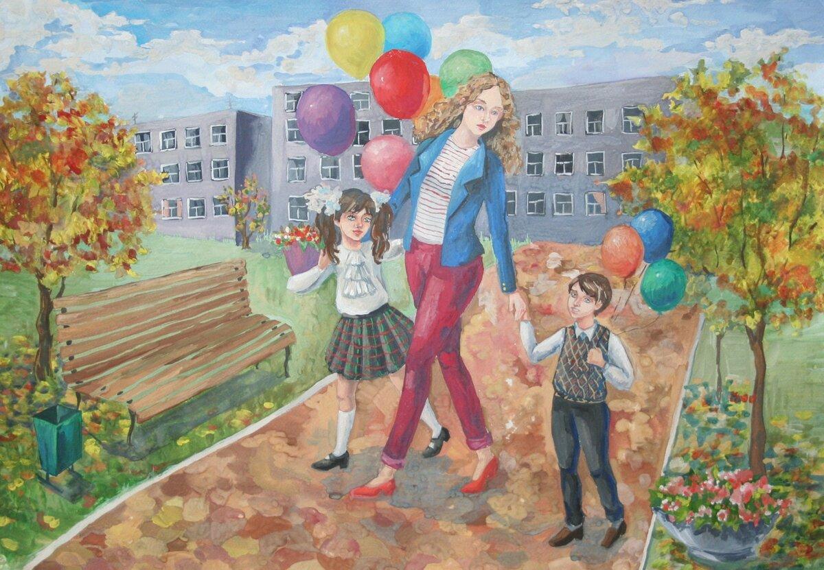 Картинки о школе нарисованные
