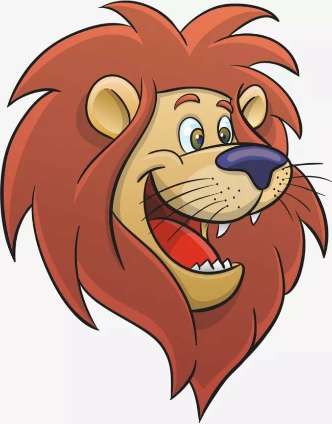 Лев смешной рисунок, смартфон анимацией