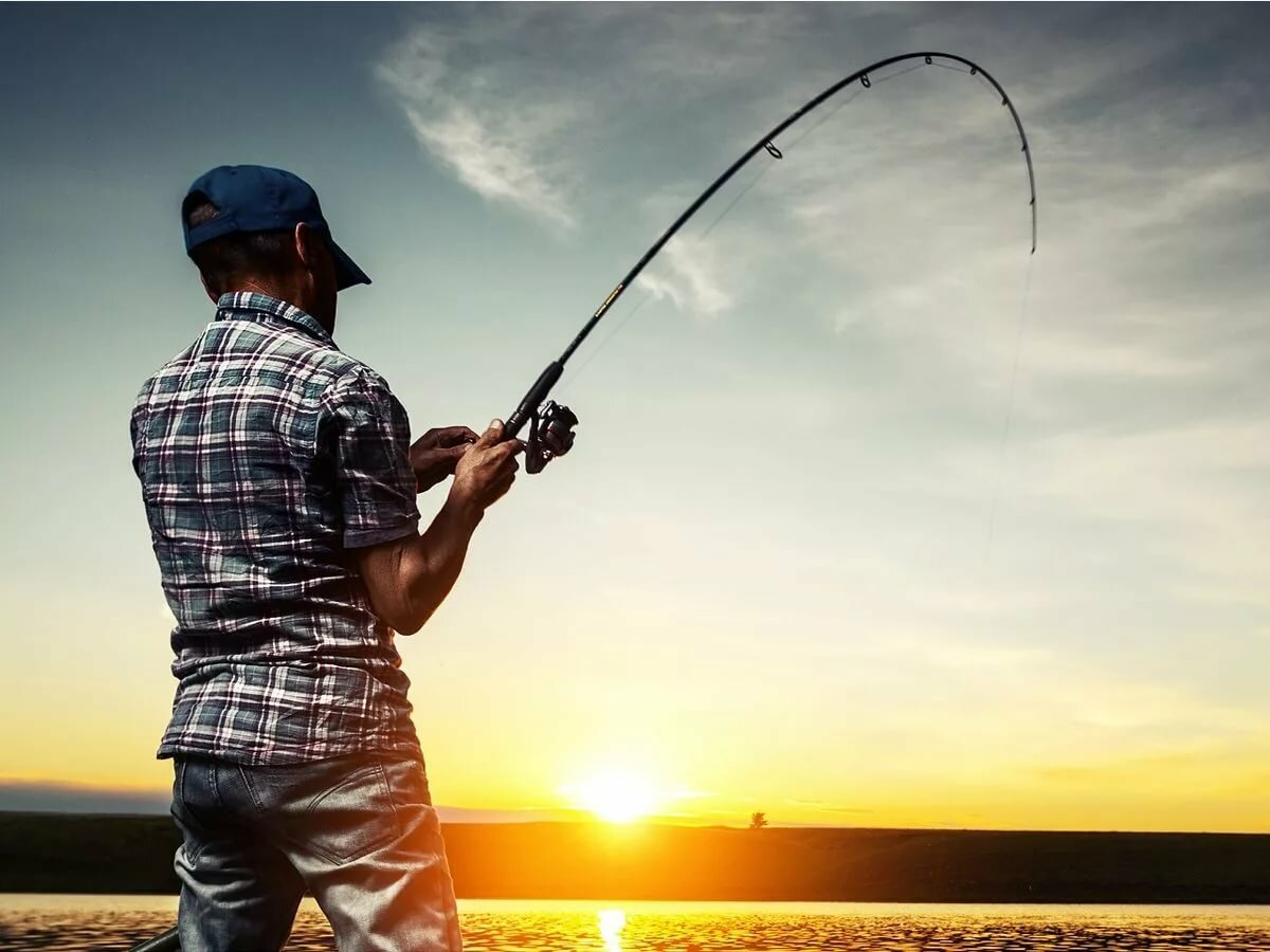 картинка мужчина рыбачить нашли все места