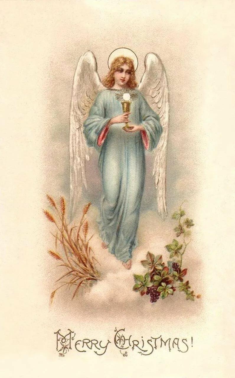 Ангел открытка 19 века, знаю