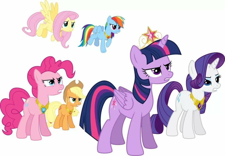 Картинки с пони из мультика май литл пони